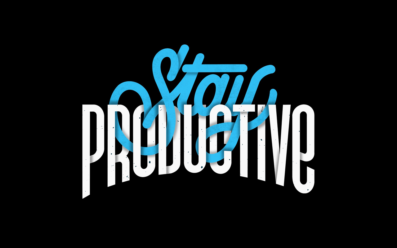 <span>Stay Productive</span><i>→</i>
