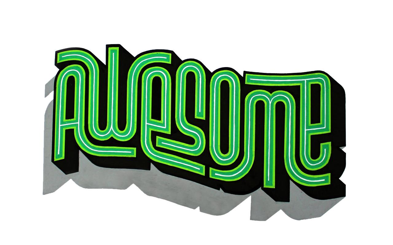 <span>AWESOME</span><i>→</i>