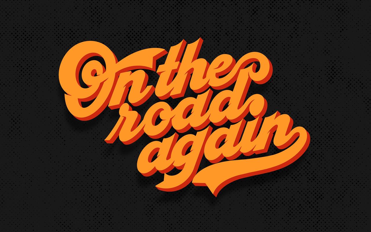 <span>On the road again</span><i>→</i>
